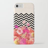 chevron iPhone & iPod Cases featuring Chevron Flora II by Bianca Green
