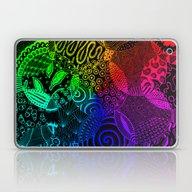 Rainbow Zentangle Laptop & iPad Skin
