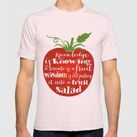 Tomato Knowledge Mens Fitted Tee Light Pink SMALL
