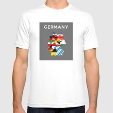 germany regions flag map SMALL White Mens Fitted Tee