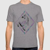 ▲TWIN SHADOW ▲by Vasare Nar and Kris Tate  Mens Fitted Tee Athletic Grey SMALL