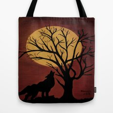Full Moon/red Tote Bag