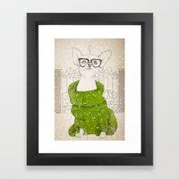Hipster Chiuaua Framed Art Print
