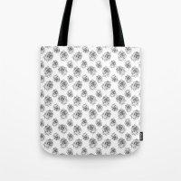Rose Line Pattern Tote Bag