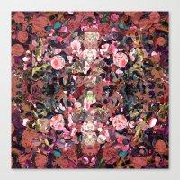 Pink Spot Floral Canvas Print