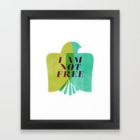 I am not free Framed Art Print