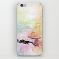LITTLE BIRD ON BRANCH iPhone & iPod Skin
