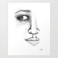 Fine Liner Stippling Gir… Art Print