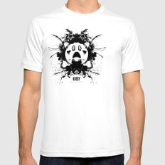 Kirby Ink Blot Geek Psychological Disorders White Mens Fitted Tee SMALL