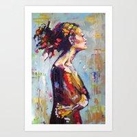 Lena- beautiful woman Art Print