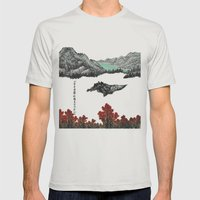 Spring of WuShe Mens Fitted Tee Silver SMALL