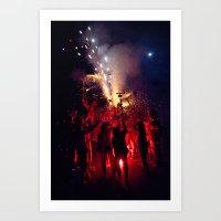 Red Sound Art Print