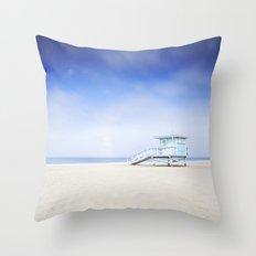 Lifeguard Tower Throw Pillow