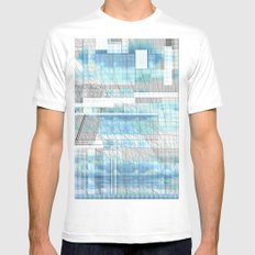 Sky Scraped SMALL White Mens Fitted Tee