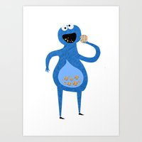 MR COOKIE MONSTER! Art Print