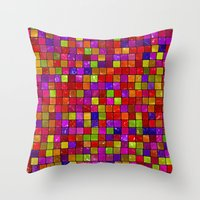 Colorful Tiles Throw Pillow