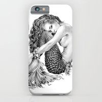 mermaid iPhone & iPod Cases featuring Mermaid by April Alayne