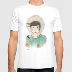 Groenlandia. White SMALL Mens Fitted Tee