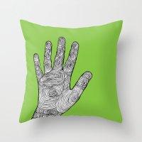 Handprint Throw Pillow
