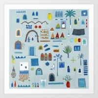 Morocco Sketch Art Print