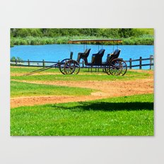 Antique 3 seat Carriage Canvas Print