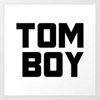 Tom Boy Art Print