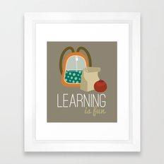 Backpacks & lunch sacks Framed Art Print