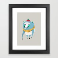 Bear with Hat Framed Art Print