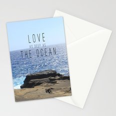 LOVE DEEP  Stationery Cards