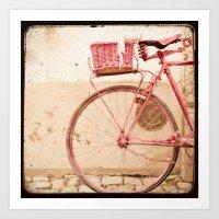 I Took My Bike And Went … Art Print