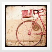 I Took My Bike And Went … Art Print