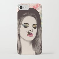 lana del rey iPhone & iPod Cases featuring LANA #2 by Vita G