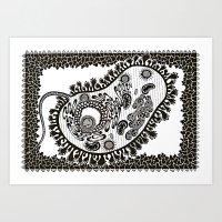 Animal Cell Art Print