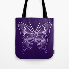 Galactica Purple Butterfly Tote Bag