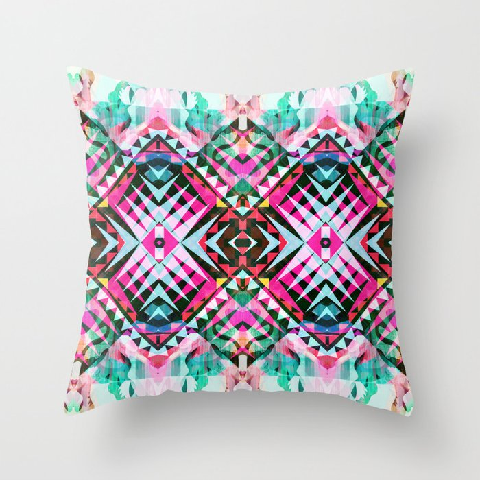 Mix #546 Throw Pillow by Ornaart Society6