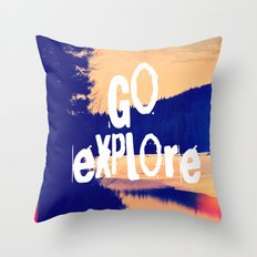 Go Explore Throw Pillow