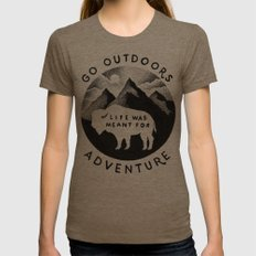 OUTDOORS Womens Fitted Tee Tri-Coffee SMALL