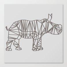 Geo Rhino Canvas Print