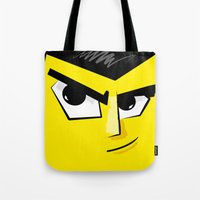 Post it Portrait: Samurai Jack Tote Bag