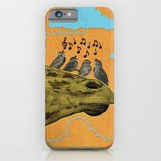 Giraffe & Singing Birds Print iPhone 6 Slim Case