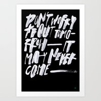TOMORROW/2/ Art Print