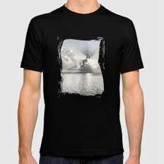 When the sun sets... Mens Fitted Tee Black SMALL