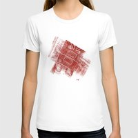 Red Robot! Womens Fitted Tee White SMALL