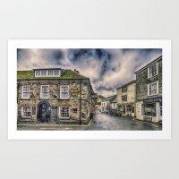 The Ship Inn Mevagissey Art Print