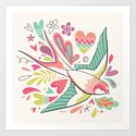 spring swallow Art Print