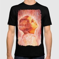 Heading for a fall (Vintage Portrait) Mens Fitted Tee Black SMALL