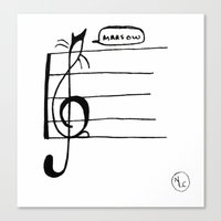 Treble Clef Cat Canvas Print