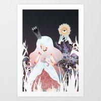 White Queen Art Print