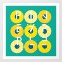 Pineapple Rings Art Print