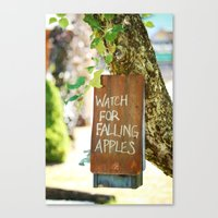 Falling Apples Canvas Print
